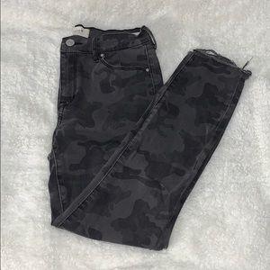 PacSun | camo raw hem skinny ankle jeans